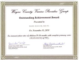 وزارة  الصحة في ميشيغان تمنح جائزة الإنجاز المتميّز للدكتور باسل الخطيب
